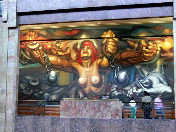 Nueva Democracia (1944), mural de David Alfaro Siqueiros