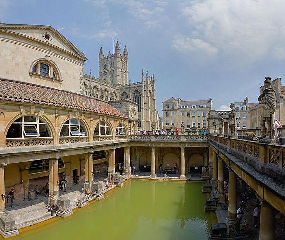 Termas romanas en la localidad Bath del Reino Unido