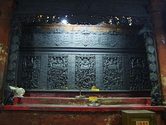 En la Sala de los Diez Infiernos abundan estos impresionantes paneles