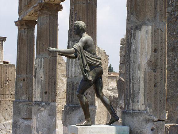 Restos del Templo de Apolo en Pompeya