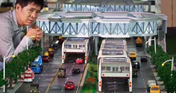 Maqueta del proyecto del nuevo autobús de China