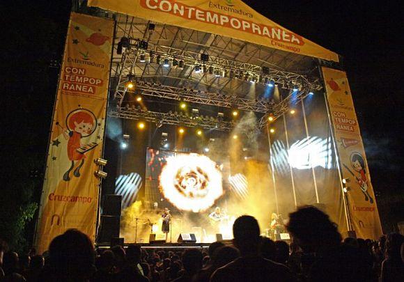 Escenario del festival de música Contemporanea Cruzcampo