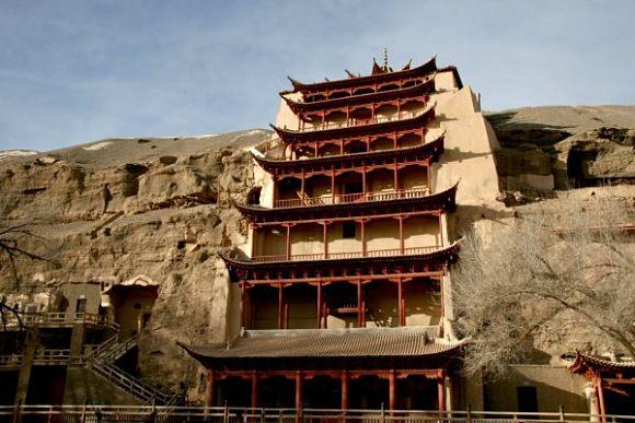 Uno de los templos budistas de las cuevas de Mogao