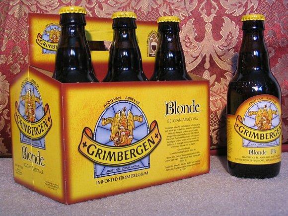 Blonde es una de las variedades de la cerveza belga Grimbergen