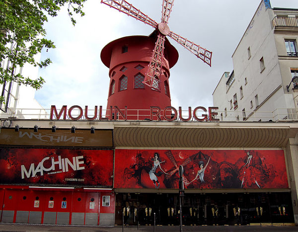 Montmartre paris moulin rouge