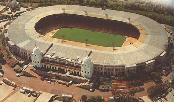 Imagen aérea del estadio de Wembley, la catedral del fútbol inglés