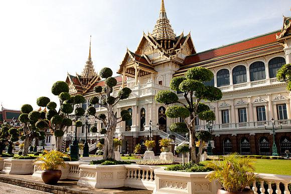 interior del Palacio Real de Bangkok