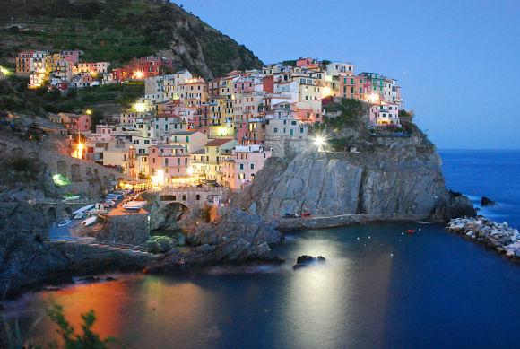 Fotografía de Manarola, uno de los cinco pueblos que componen el Cinque Terre
