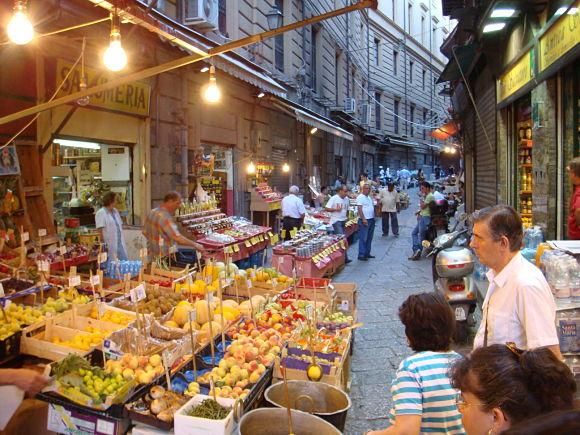 Mercado Vucciria, un bonito mercado histórico de Palermo