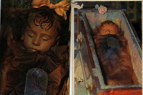 Entre todas las momias, destaca la de la pequeña Rosalía Lombardo por su perfecto estado de conservación debido a una misteriosa técnica