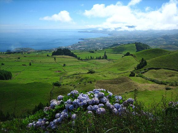 Por sus extensas praderas verdes, la Isla de São Miguel es conocida como la Isla Verde