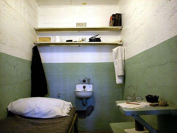 Interior de una celda de la prisión penitenciaria de Alcatraz
