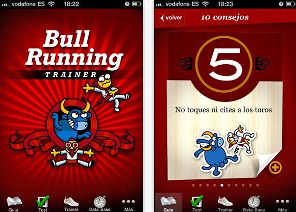 Bullrunning  Trainer, una aplicación viajera para correr los encierros en los productos de Apple