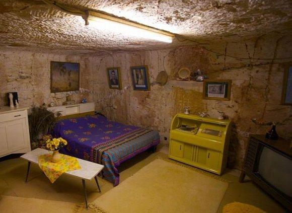 Ejemplo de una casa en Coober Pedy, la capital mundial del ópalo en Australia
