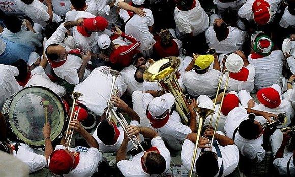 Los Sanfermines no serían lo mismo sin la música de las peñas