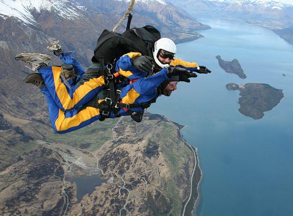 Ver los montes, lagos o mares en caída libre es una experiencia inigualable