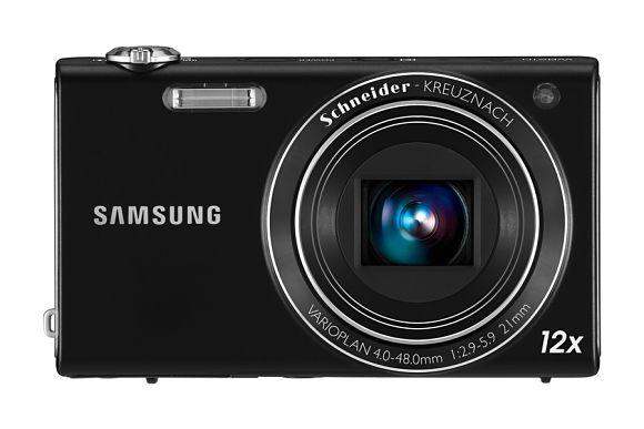 Imagen frontal de la cámara digital Samsung WB210