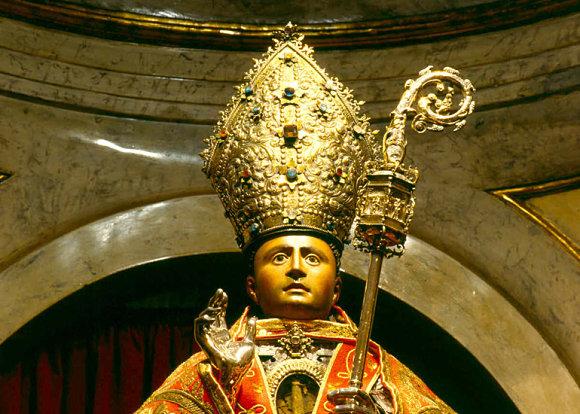 Imagen del busto de San Fermin de Amiens