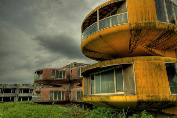 El resort de San Zhi en Taiwán tiene edificios con formas futuristas