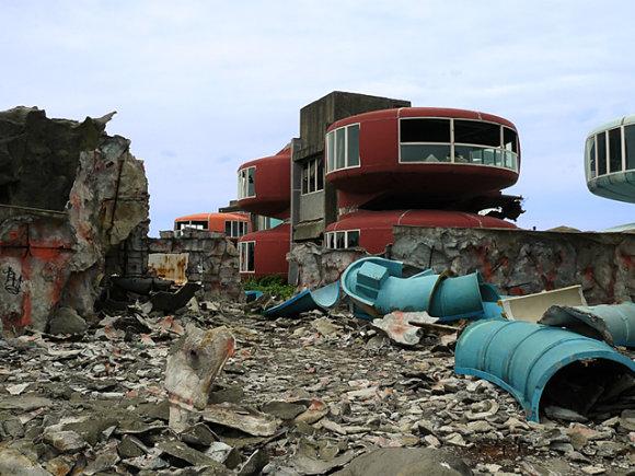 Fotografía tomada de la ciudad fantasma de San Zhi en Taiwán