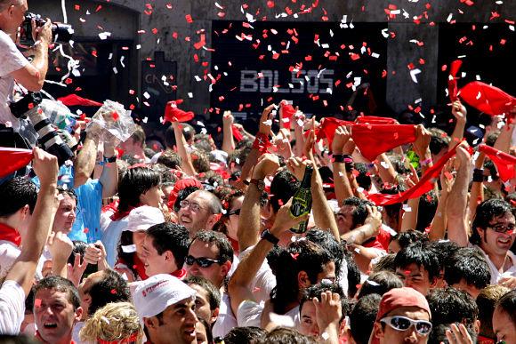 La algarabía se cuela por todos los rincones en las Fiestas de San Fermín