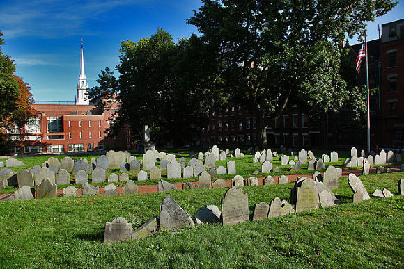 Vista de la colina Copp Burying Ground