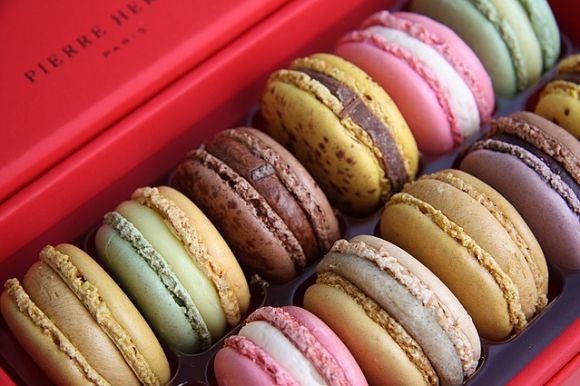 Los macarons son la especialidad de las pastelerías de Pierre Hermé