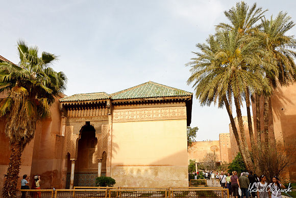 La zona del mihrab que vemos al fonde de la fotografía, es una de las más bonitas de todo el lugar