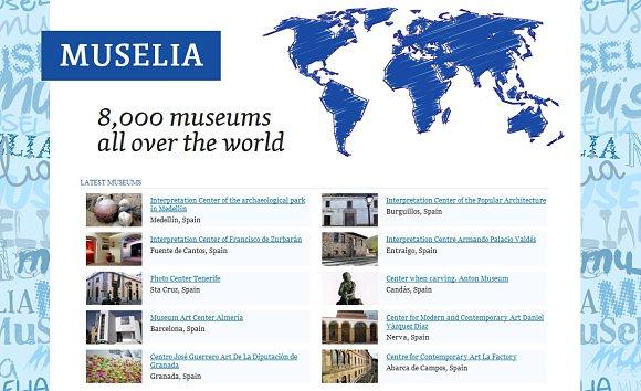 En Muselia encontraremos información de más de 8.000 museos y enclaves culturales de todo el mundo