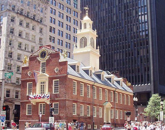 Vista de la fachada del edificio Old State House