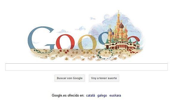 Google ha realizado un nuevo doodle para conmemorar el 450 aniversario de la Catedral de San Basilio