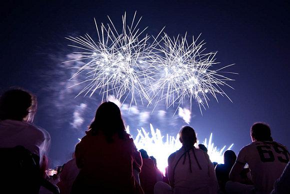 Fuegos Artificiales dia 10 de Julio, SanFermines Pamplona, Gracias a SANFERMIN 2014