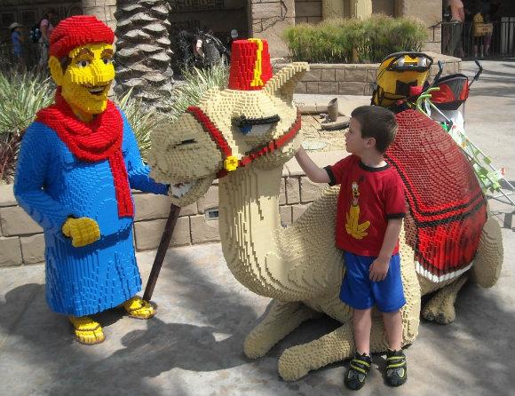 En Legoland California casi todo lo que vemos está hecho a base de piezas