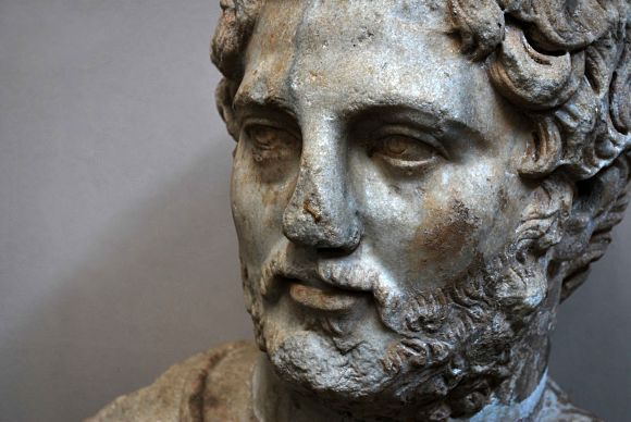 Fotografía del busto de Augusto en el Museo de Éfeso en Selçuk