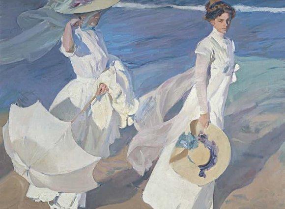 El cuadro Paseo a orillas del mar, de Joaquín Sorolla