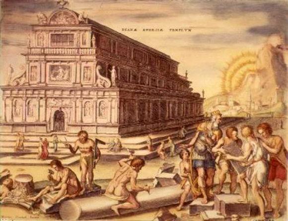 Ilustración del Templo de Artemisa, una de las 7 Maravillas del Mundo Antiguo
