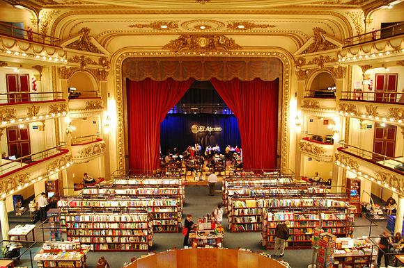 El Ateneo Gran Splendid es un teatro convertido en librería ubicado en la ciudad argentina de Buenos Aires