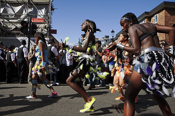 Carnaval Notting Hill calles