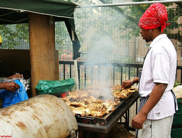 Carnaval Notting Hill comida