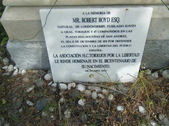 Cementerio Inglés Málaga Robert Boyd