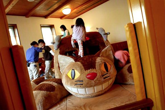 Una de las salas más divertidas del Museo Ghibli es la de El Gato Bus