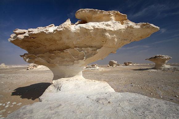 Formaciones geológicas desierto Farafra Egipto