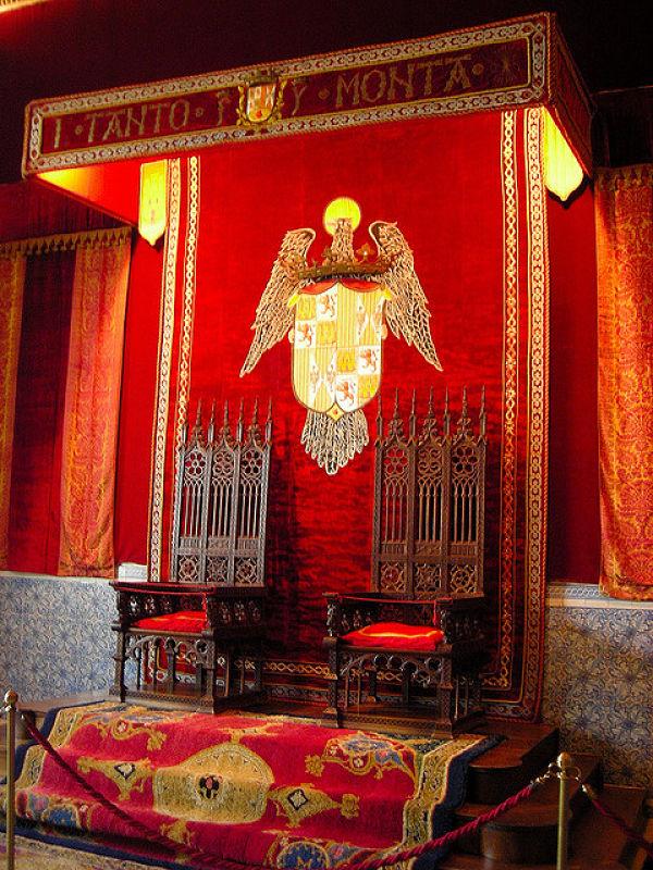 Alcázar de Segovia sala de tronos