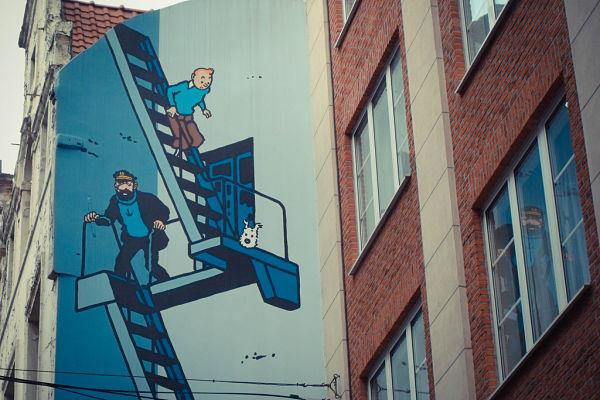 Mural Tintín