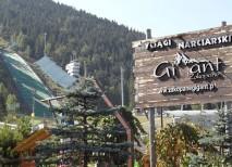 Una de las tres pistas de salto de esquí en la ciudad de Zakopane, Polonia
