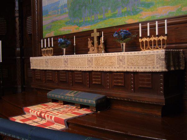 Iglesia Kiruna Suecia Altar