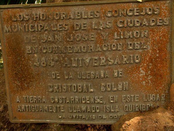 Isla Quiribri Uvita Limon Costa Rica Placa Colon