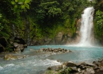 Rio Celeste Costa Rica Cascada