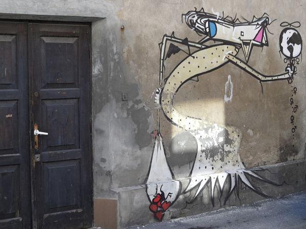 barrio judío Cracovia graffiti