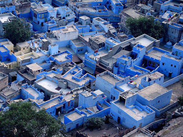 casas color azul Jodhpur India